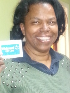 Shalonda Bayton With Gift Card 20150214_203758